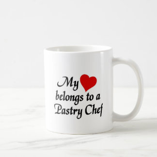My heart belongs to a pastry Chef Basic White Mug