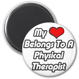 My Heart Belongs To A Physical Therapist 6 Cm Round Magnet