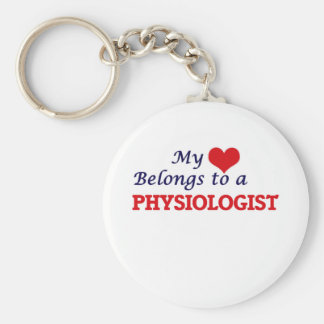 My heart belongs to a Physiologist Basic Round Button Key Ring
