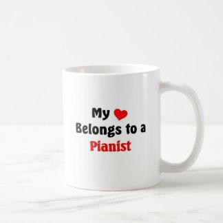 My heart belongs to a Pianist Coffee Mug