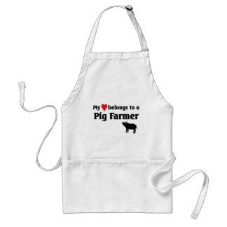 My heart belongs to a Pig Farmer Standard Apron