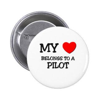 My Heart Belongs To A PILOT Pins