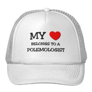 My Heart Belongs To A POLEMOLOGIST Trucker Hats