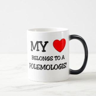 My Heart Belongs To A POLEMOLOGIST Coffee Mugs