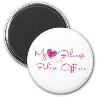 My Heart Belongs to a Police Officer Magnet