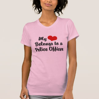 My Heart belongs to a Police Officer Tees