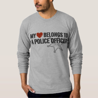 My Heart Belongs to a Policeman T Shirt