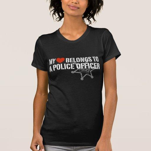 My Heart Belongs to a Policeman T-Shirt
