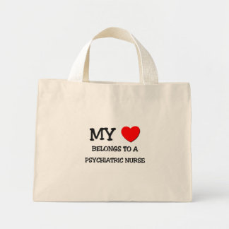 My Heart Belongs To A PSYCHIATRIC NURSE Mini Tote Bag