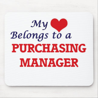 My heart belongs to a Purchasing Manager Mouse Pad