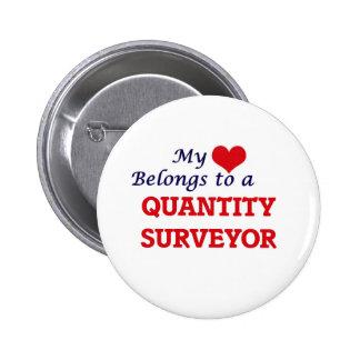 My heart belongs to a Quantity Surveyor 6 Cm Round Badge