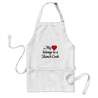 My heart belongs to a Ranch cook Standard Apron