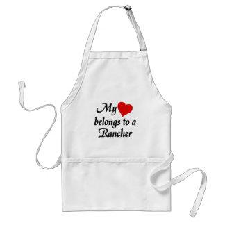 My heart belongs to a Rancher Standard Apron