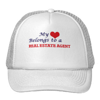 My heart belongs to a Real Estate Agent Cap