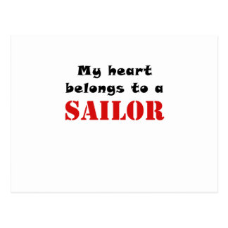 My Heart Belongs to a Sailor Postcard
