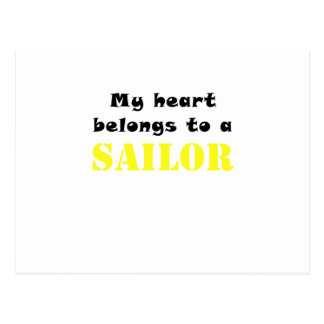 My Heart Belongs to a Sailor Postcard