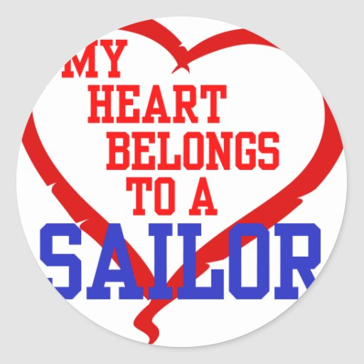 My Heart Belongs to a Sailor Stickers