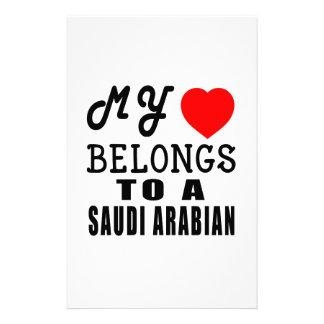 My Heart Belongs To A Saudi Arabian Customized Stationery