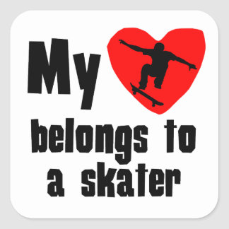 My Heart Belongs To A Skater Stickers