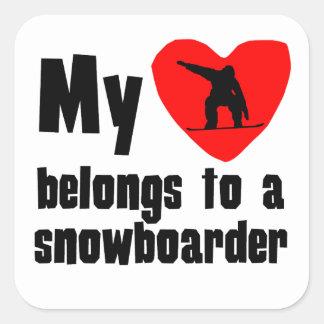 My Heart Belongs To A Snowboarder Sticker