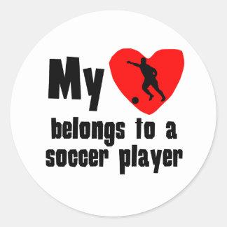 My Heart Belongs To A Soccer Player Sticker