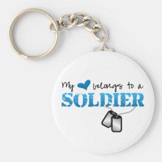 My heart belongs to a Soldier Key Chain