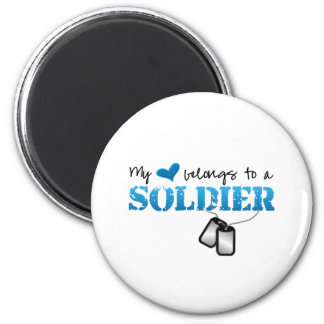 My Heart Belongs To A Soldier Magnet