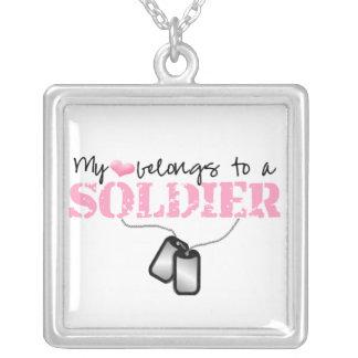 My Heart Belongs to A Soldier Pendants