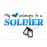 My Heart Belongs to A Soldier Post Cards