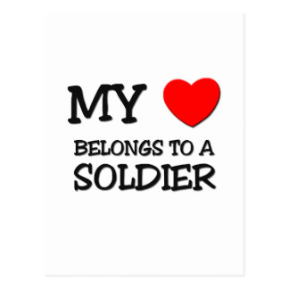 My Heart Belongs To A SOLDIER Postcard