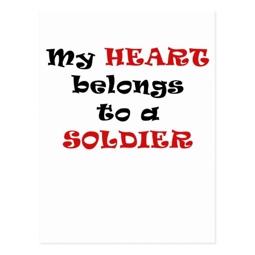 My Heart Belongs to a Soldier Post Card