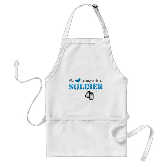 My Heart Belongs To A Soldier Standard Apron