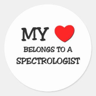 My Heart Belongs To A SPECTROLOGIST Stickers