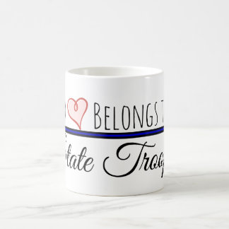 My Heart Belongs to a State Trooper Coffee Mug