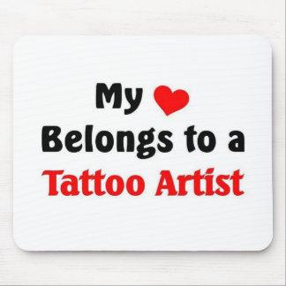 My heart belongs to a tattoo Artist Mouse Mat