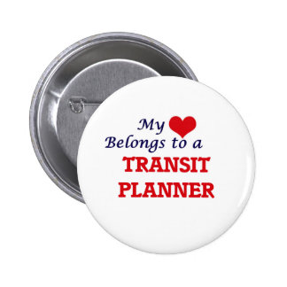 My heart belongs to a Transit Planner 6 Cm Round Badge