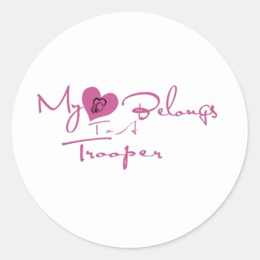 My Heart Belongs to a Trooper Stickers