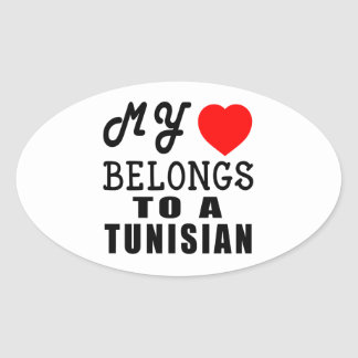 My Heart Belongs To A Tunisian Stickers