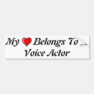 My Heart Belongs To A Voice Actor Bumper Sticker