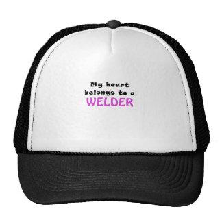 My Heart Belongs to a Welder Hats
