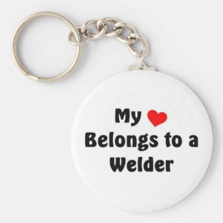 My heart belongs to a Welder Keychains