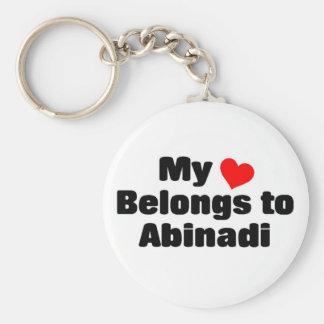 My heart belongs to abinadi key chains