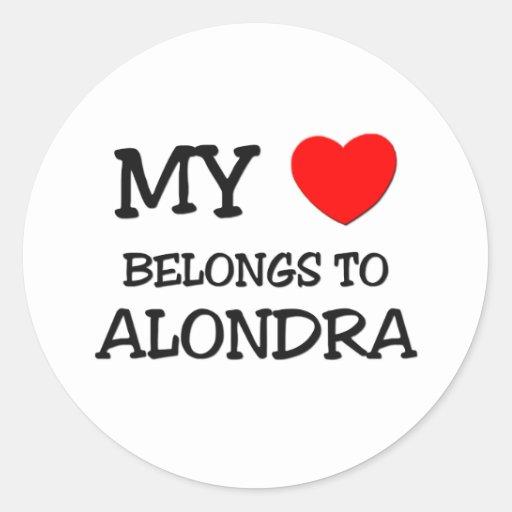 My Heart Belongs To ALONDRA Stickers