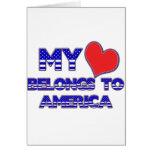 My Heart Belongs To America Greeting Card