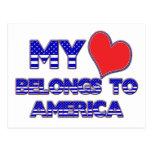My Heart Belongs To America Postcard