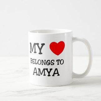 My Heart Belongs To AMYA Classic White Coffee Mug