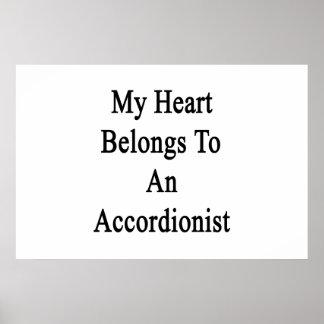 My Heart Belongs To An Accordionist Print