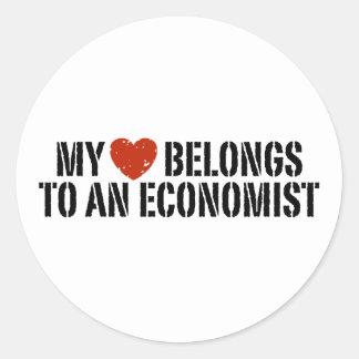 My Heart Belongs To An Economist Stickers