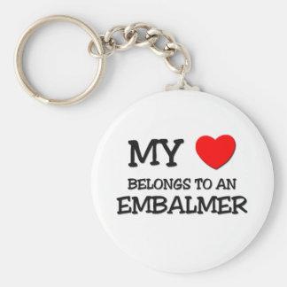 My Heart Belongs To An EMBALMER Key Ring