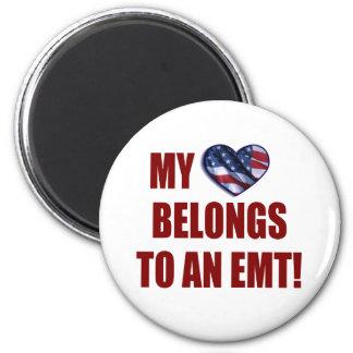 My Heart Belongs to an EMT Refrigerator Magnet